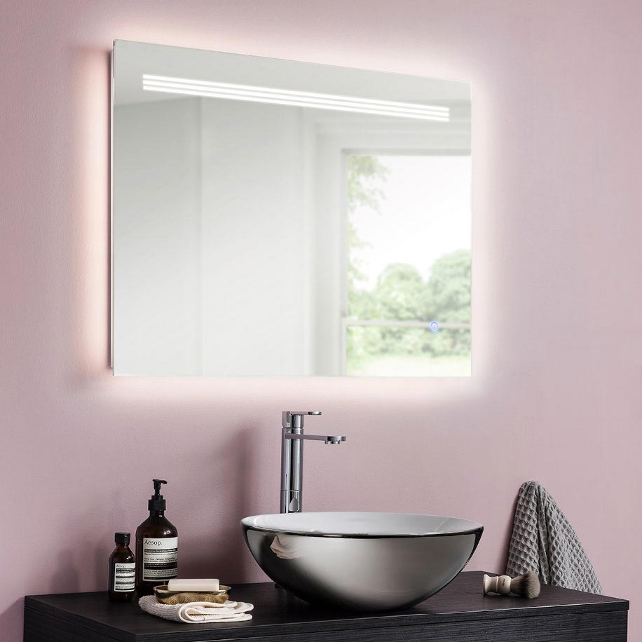 Bauhaus Radiance Ambient Illuminated Mirror - MEA6080 profile large image view 2