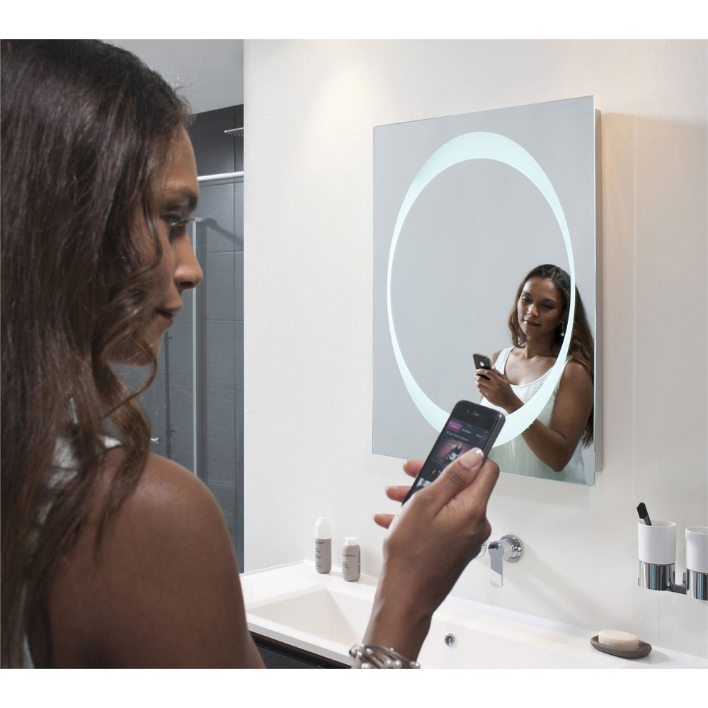 Bauhaus - Revive 1.0 LED Illuminated Mirror w/ Bluetooth, Stereo Speakers & De-Mist Pad - MEB8060A profile large image view 2