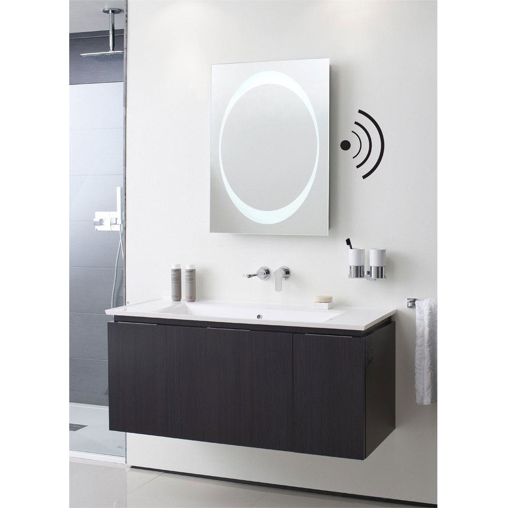 Bauhaus - Revive 1.0 LED Illuminated Mirror w/ Bluetooth, Stereo Speakers & De-Mist Pad - MEB8060A Feature Large Image