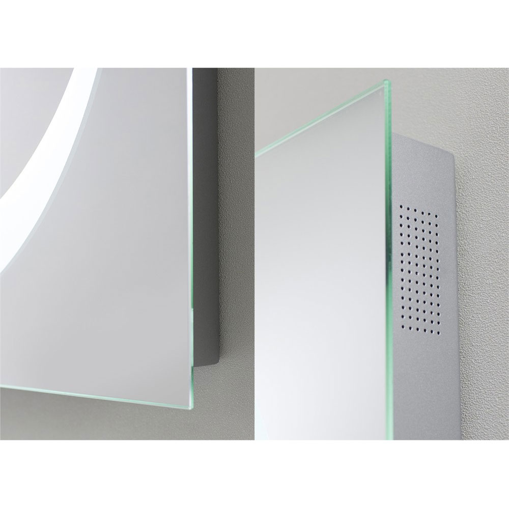 Bauhaus - Revive 1.0 LED Illuminated Mirror w/ Bluetooth, Stereo Speakers & De-Mist Pad - MEB8060A Standard Large Image