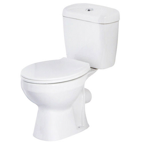 Melbourne Close Coupled Toilet Inc. White Compact Cabinet + Basin Set profile large image view 2