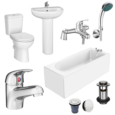 Melbourne Complete Bathroom Package - 1700 x 700