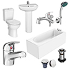 Melbourne Complete Bathroom Package - 1700 x 700 profile small image view 1