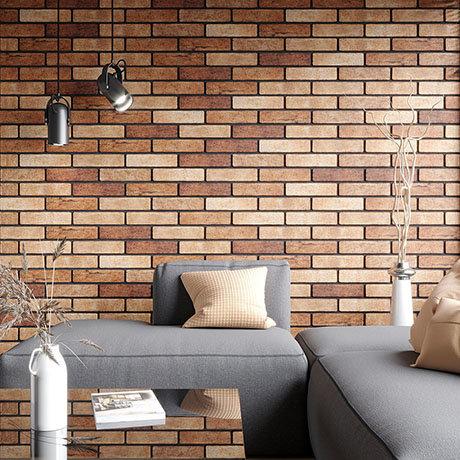 Melo Orange Rustic Brick Effect Wall Tiles - 250 x 60mm