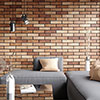 Melo Orange Rustic Brick Effect Wall Tiles - 250 x 60mm Small Image