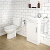 Melbourne Close Coupled Toilet with 420mm Cabinet + Basin Set profile small image view 1