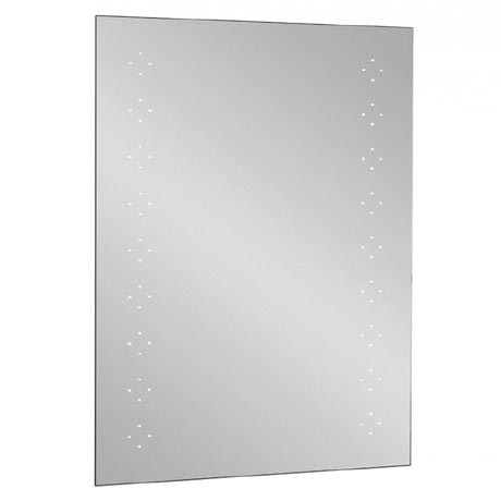 Bauhaus - Rio 1.0 LED Illuminated Mirror w/ Shaving Socket, Digital Clock & De-Mist Pad - MES8060A