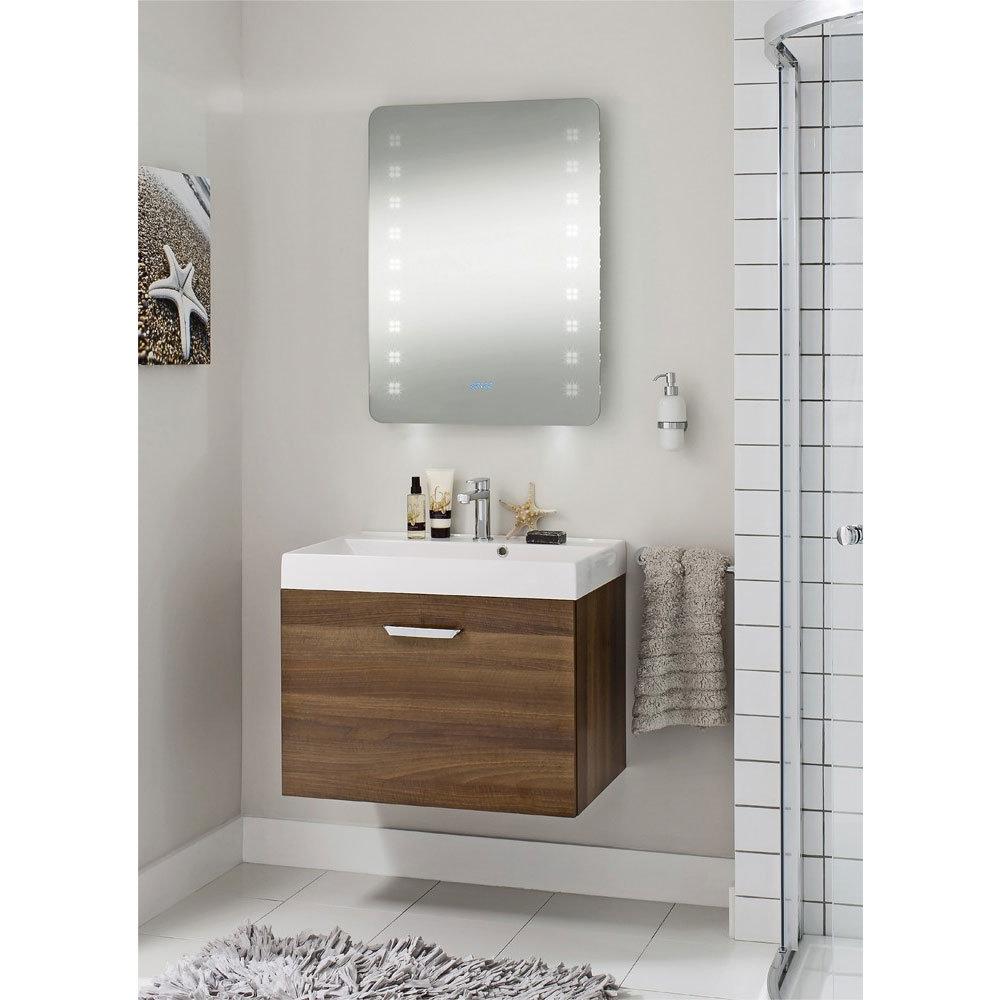 Bauhaus - Rio 2.0 LED Illuminated Mirror w/ Shaving Socket, Digital Clock & De-Mist Pad - MES8060B Standard Large Image