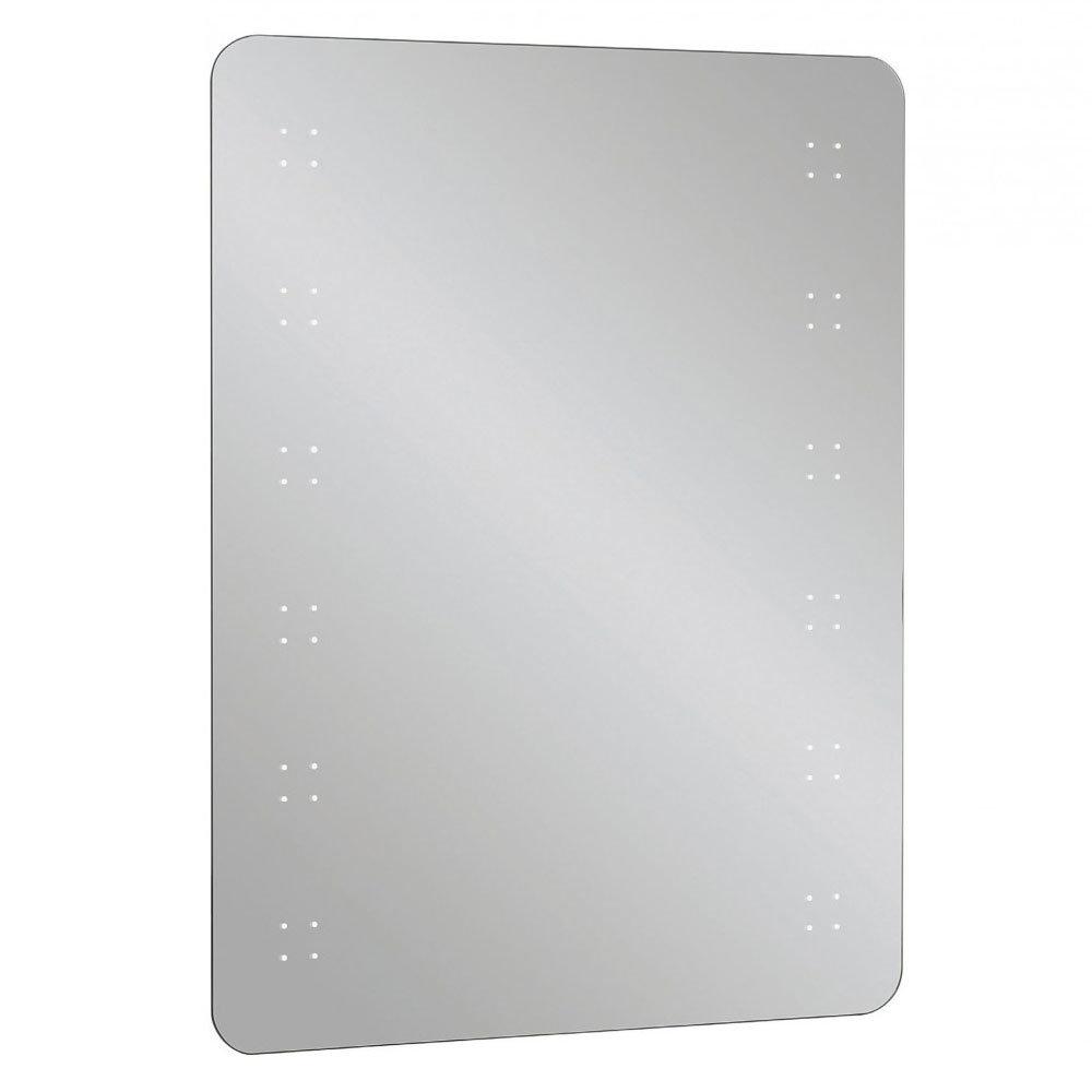 Bauhaus - Rio 2.0 LED Illuminated Mirror w/ Shaving Socket, Digital Clock & De-Mist Pad - MES8060B Large Image