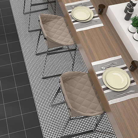 Tetra Mesh Black Wall and Floor Tiles - 200 x 200mm