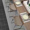 Tetra Mesh Black Wall and Floor Tiles - 200 x 200mm Small Image