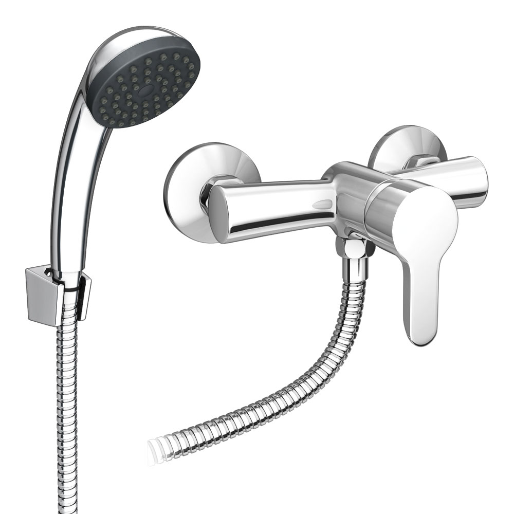 Gio Single Lever Manual Shower Valve with Shower Kit