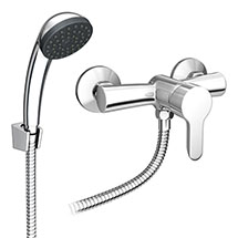 Gio Single Lever Manual Shower Valve with Shower Kit Medium Image
