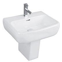 RAK Metropolitan 42cm Basin + Half Pedestal Medium Image