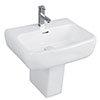 RAK Metropolitan 42cm Basin + Half Pedestal profile small image view 1