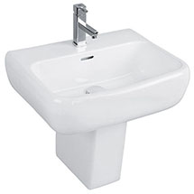 RAK Metropolitan 52cm Basin + Half Pedestal Medium Image