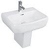 RAK Metropolitan 52cm Basin + Half Pedestal profile small image view 1