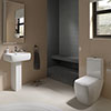 RAK Metropolitan Deluxe 4 Piece Suite - Deluxe WC & Basin profile small image view 1