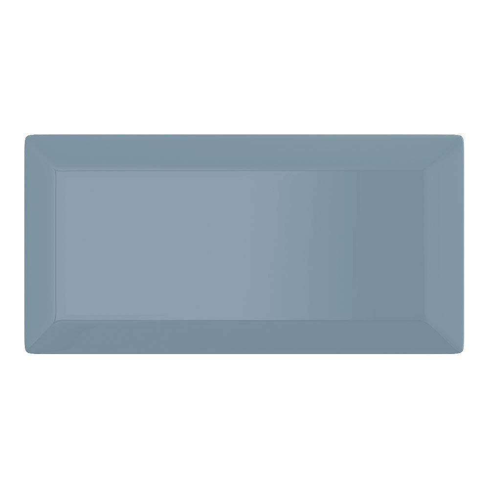 Victoria Metro Wall Tiles - Gloss Grey Blue- 20 x 10cm Large Image