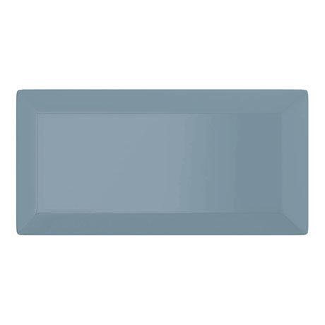 Victoria Metro Wall Tiles - Gloss Grey Blue- 20 x 10cm