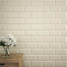 Victoria Metro Wall Tiles - Gloss Cream - 20 x 10cm Medium Image