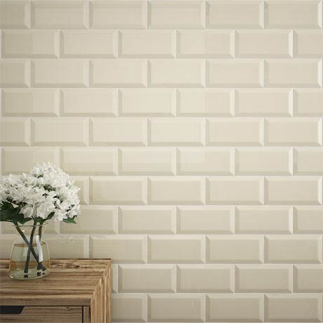 Victoria Metro Wall Tiles - Gloss Cream - 20 x 10cm