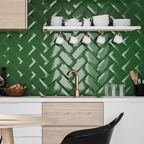 Victoria Metro Wall Tiles - Green - 20 x 10cm