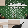 Victoria Metro Wall Tiles - Green - 20 x 10cm Small Image
