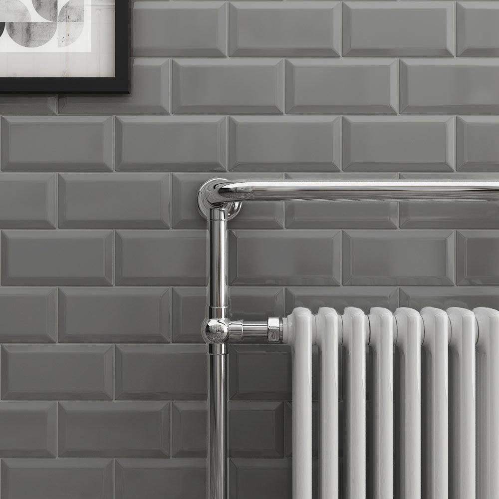 Victoria Metro Wall Tiles - Gloss Dark Grey