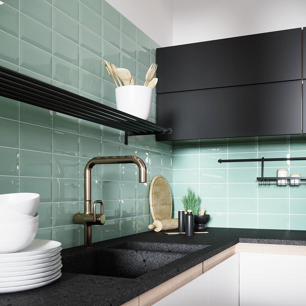 Victoria Metro Wall Tiles - Mint Green - 20 x 10cm