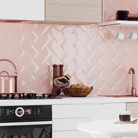 Victoria Metro Wall Tiles - Pink - 20 x 10cm