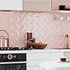 Victoria Metro Wall Tiles - Pink - 20 x 10cm Small Image