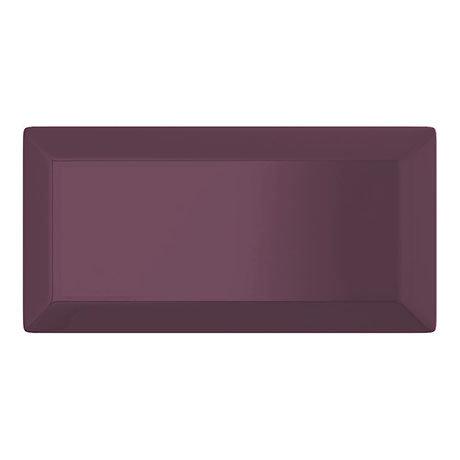 Victoria Metro Wall Tiles - Gloss Plum- 20 x 10cm
