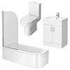 Metro 1700mm Shower Bath Suite profile small image view 1