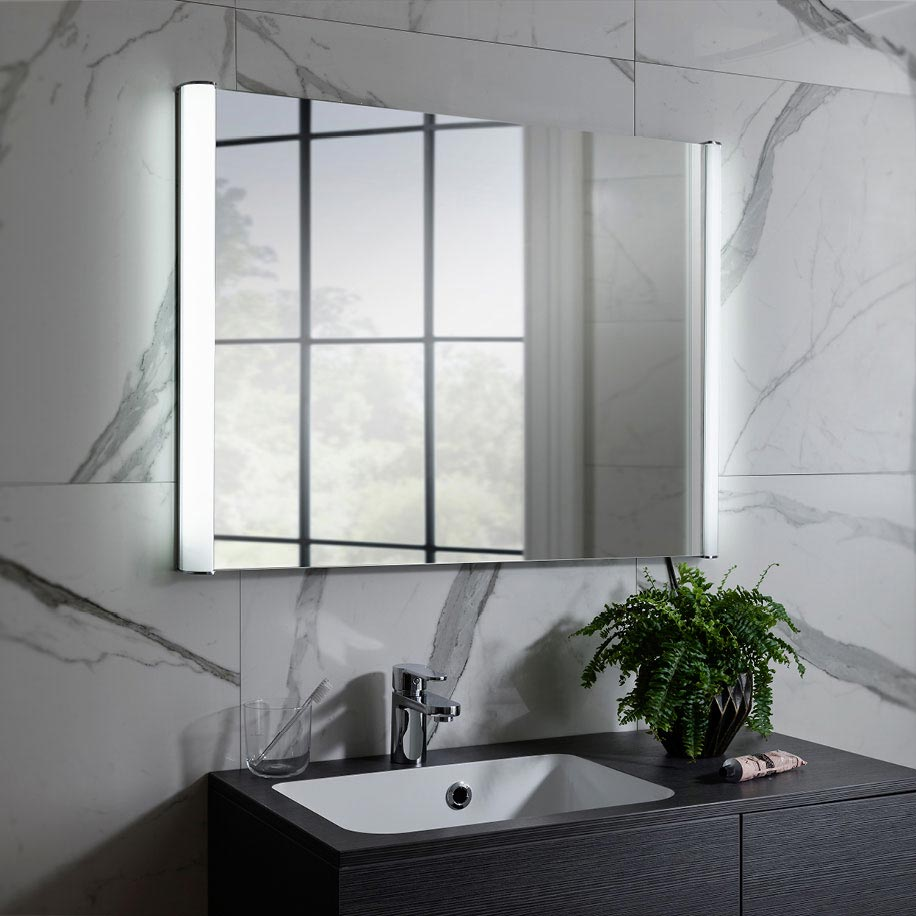 Bauhaus Serene Illuminated Mirror with Demister Pad - MET6080 profile large image view 2