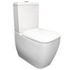 RAK Metropolitan Close Coupled BTW Toilet + Quick Release Soft Close Urea Seat profile small image view 1