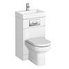 Metro Combined Two-In-One Wash Basin & Toilet (500mm wide x 300mm) profile small image view 1