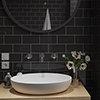 Metro Flat Wall Tiles - Gloss Black - 20 x 10cm Small Image