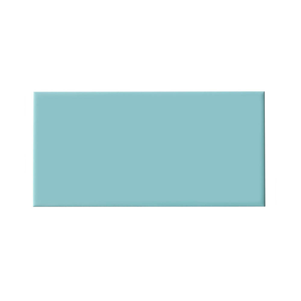Metro Flat Wall Tiles - Gloss Duck Egg - 20 x 10cm Large Image