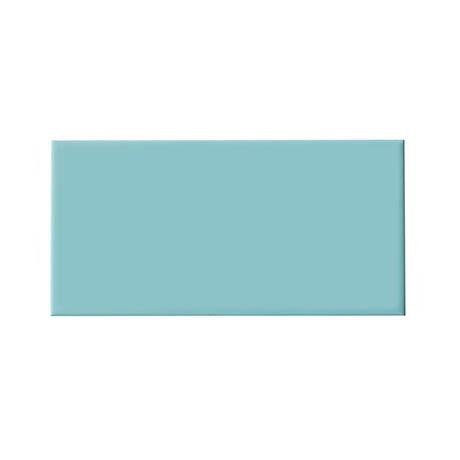 Metro Flat Wall Tiles - Gloss Duck Egg - 20 x 10cm