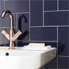 Metro Flat Wall Tiles - Gloss Navy - 20 x 10cm Small Image