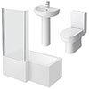 Metro Small Shower Bath Suite profile small image view 1