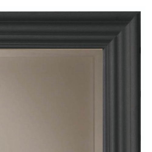 Heritage Edgeware Mirror (910 x 660mm) - Onyx Black profile large image view 2