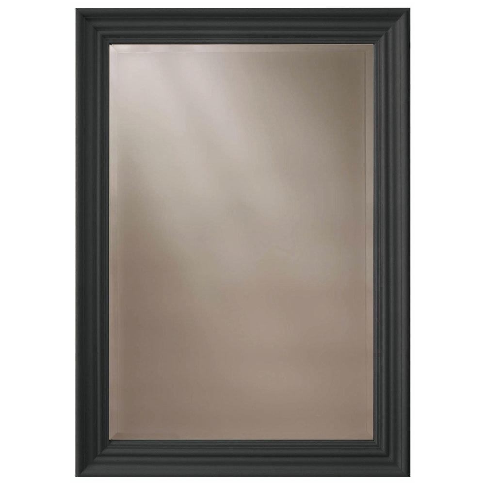 Heritage Edgeware Mirror (910 x 660mm) - Onyx Black Large Image