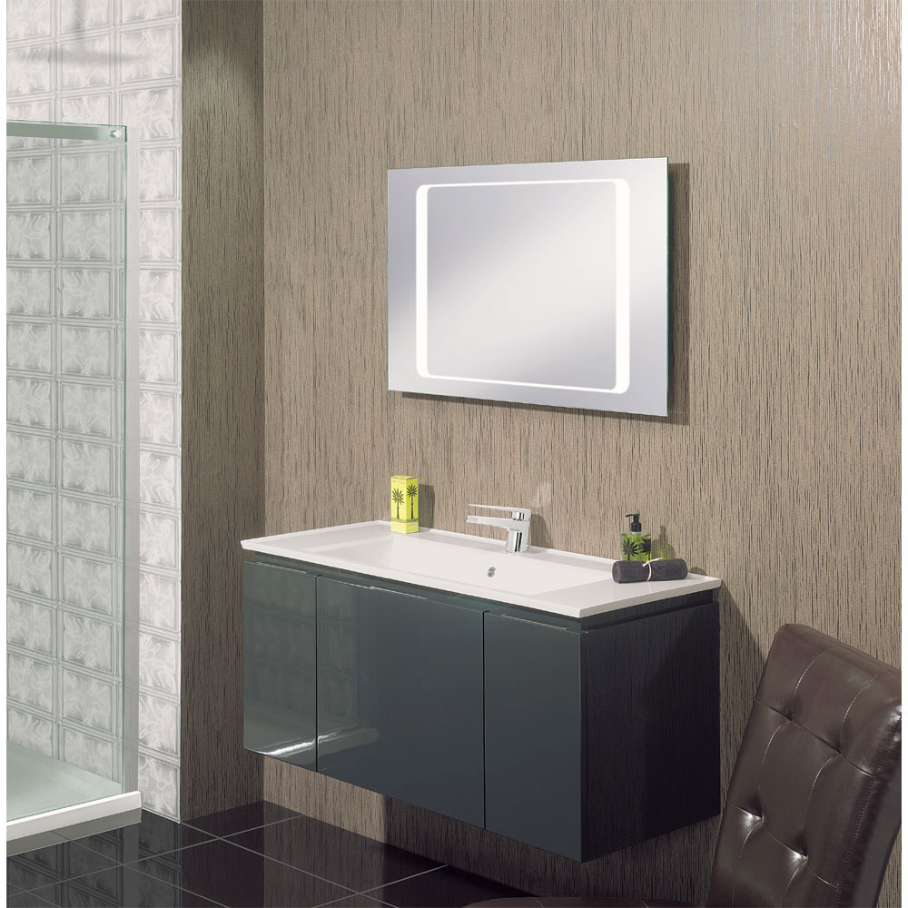 Bauhaus - Linea 80 LED Back Lit Mirror with Demister Pad - MF8060A Profile Large Image