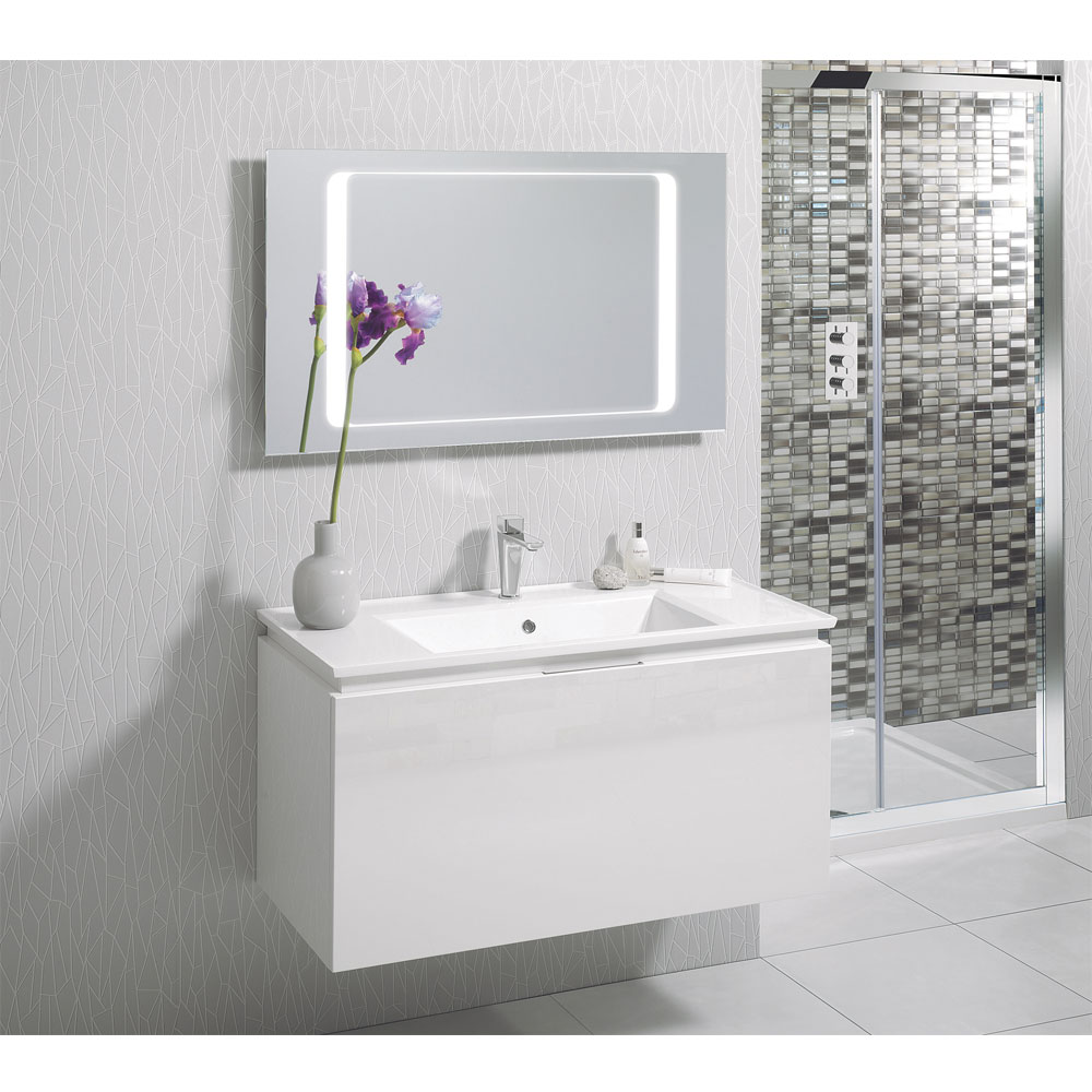 Bauhaus - Linea 80 LED Back Lit Mirror with Demister Pad - MF8060A Feature Large Image