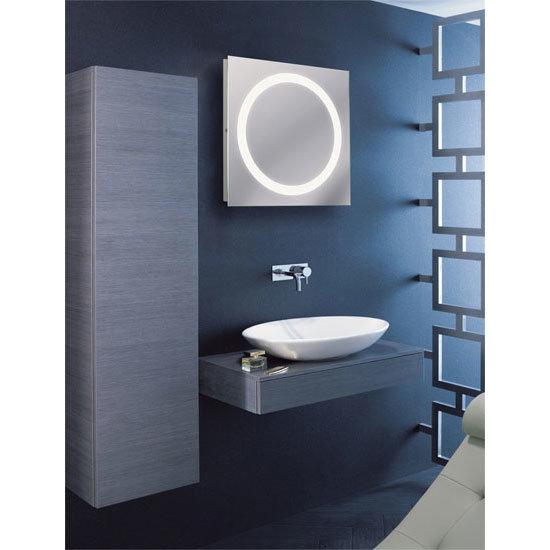 Bauhaus - Edge 55 LED Illuminated Mirror with Demister Pad - MF5555A profile large image view 2