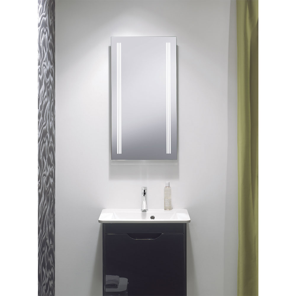 Bauhaus - Solo 80 Illuminated Back Lit Mirror with Demister Pad - MF8042A Profile Large Image