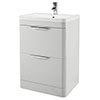 Monza 600mm Grey Mist Floor Standing Vanity Unit with Basin profile small image view 1