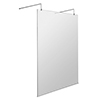 Milton Free Standing Wet Room Screen with Double Support Arms + Feet profile small image view 1